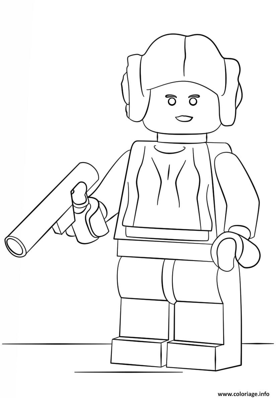 Coloriage Lego Star Wars Princess Leia Dessin à Imprimer Chase