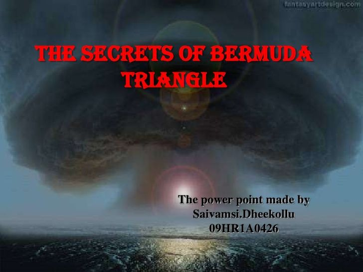 Explain about bermuda triangle incident plz.. :)?