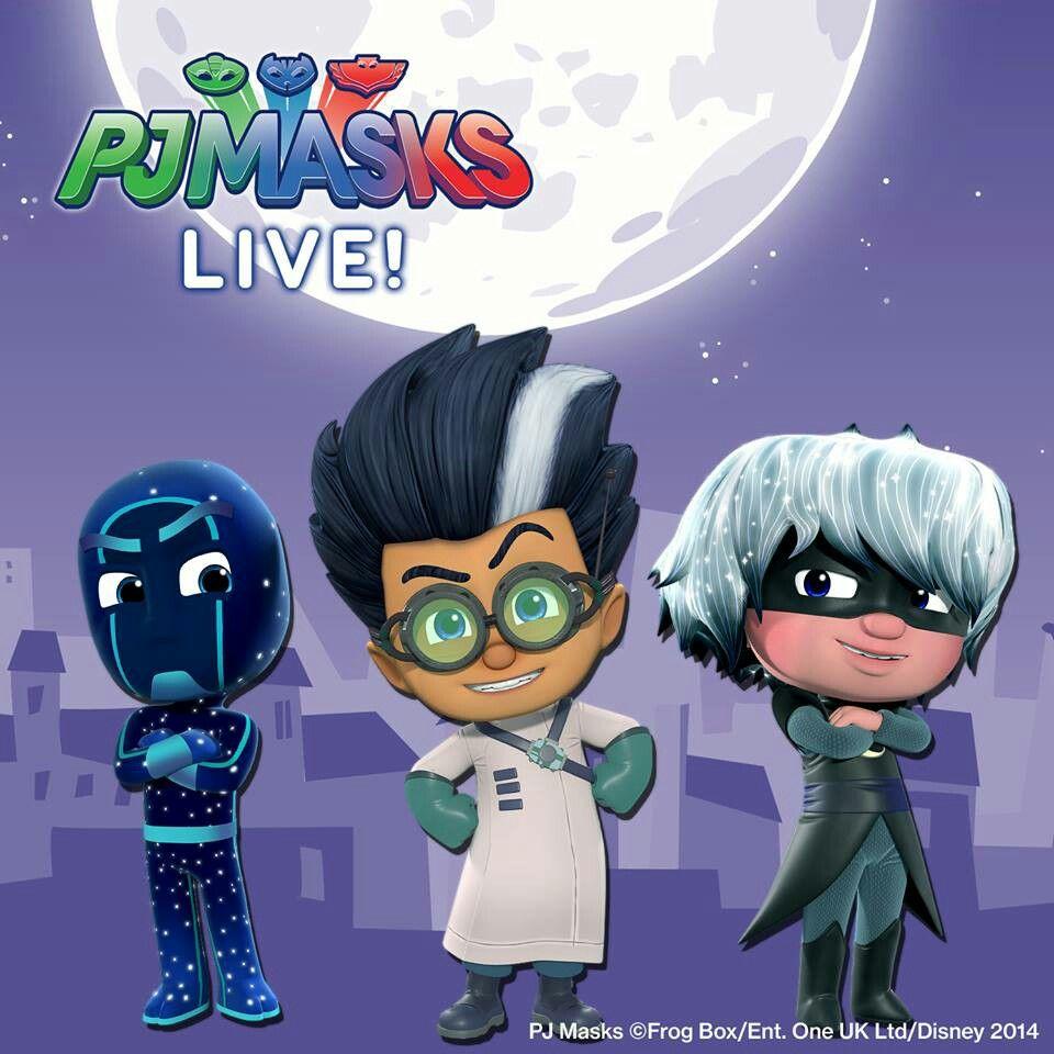 Night Time Villans Night Ninja Romeo Luna Girl Pj Masks Pj