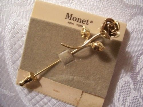 Monet Stick Pin Flashback to the Past 70s 80s Pinterest