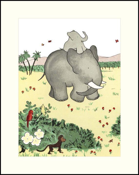Baby Room Art, Baby Animal Print, Nursery Wall Art Childrens Print ...