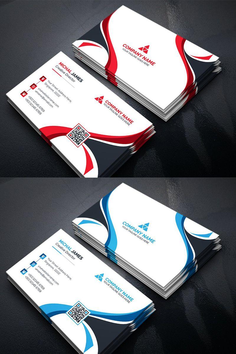 Curvy Business Card Corporate Identity Template 96135 Business Cards Corporate Identity Free Business Card Design Business Cards Creative