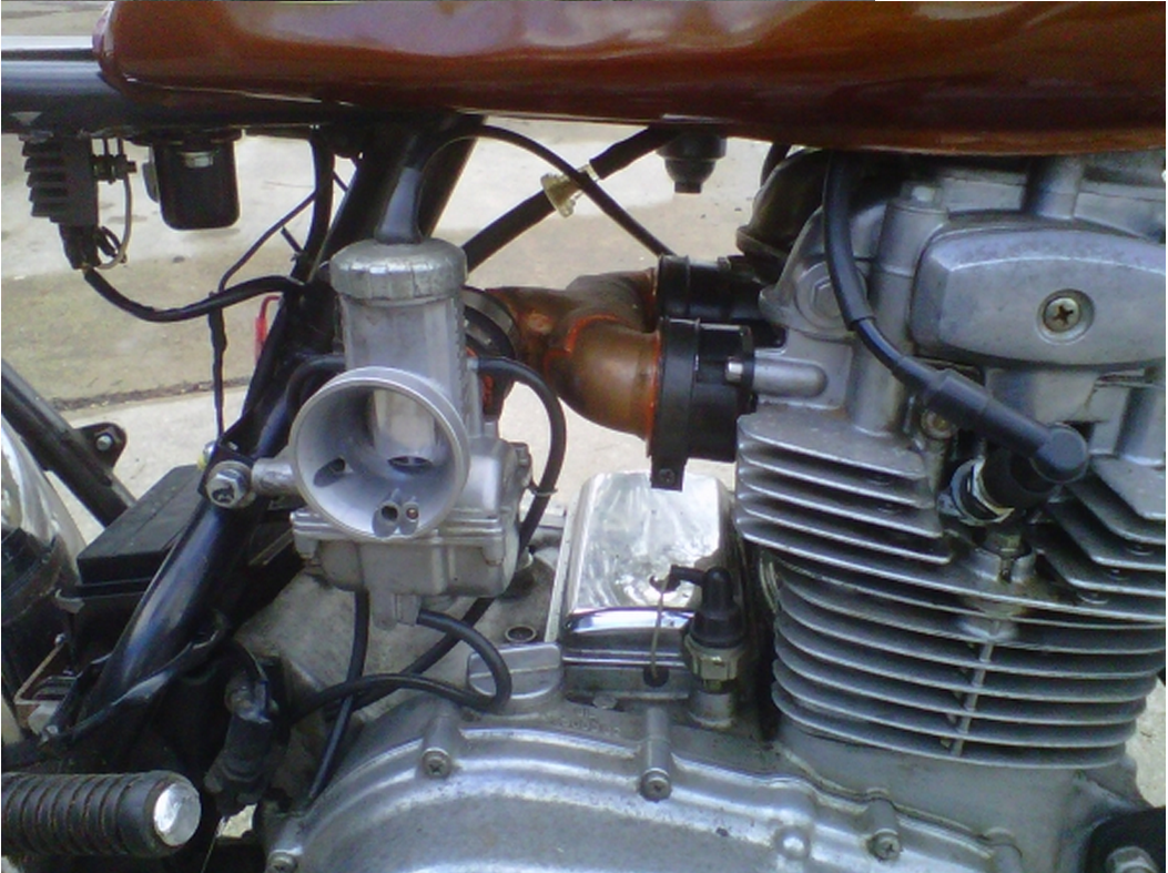 Sweet Little Kz400 Quick Chop Tracker Kinda Style Copper Geo Engine Diagram Manifold Single Intake
