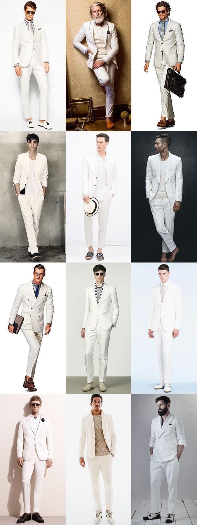 Männer Styling Ideen für die All White Party. | Anzug