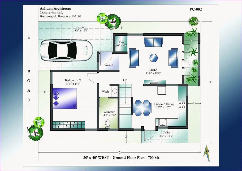 Awesome 30 X 40 House Plans Raquellealblog Com West Facing House House Plans Australia Indian House Plans