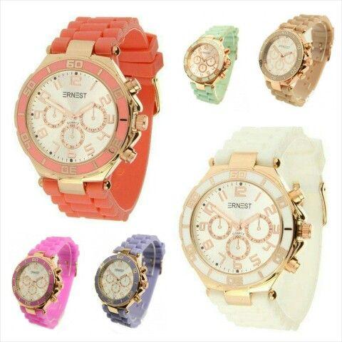 40ef1baca47 We versterken ook lekker het voorjaars gevoel met deze vrolijke nieuwe  kleuren Ernest Horloges € 19