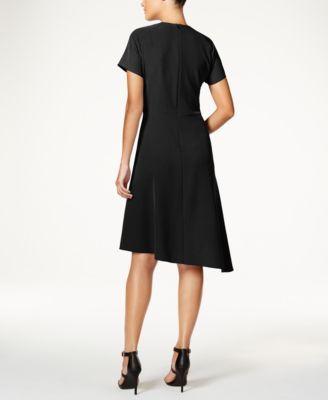 Anne Klein Asymmetrical Shirtdress - Black 10
