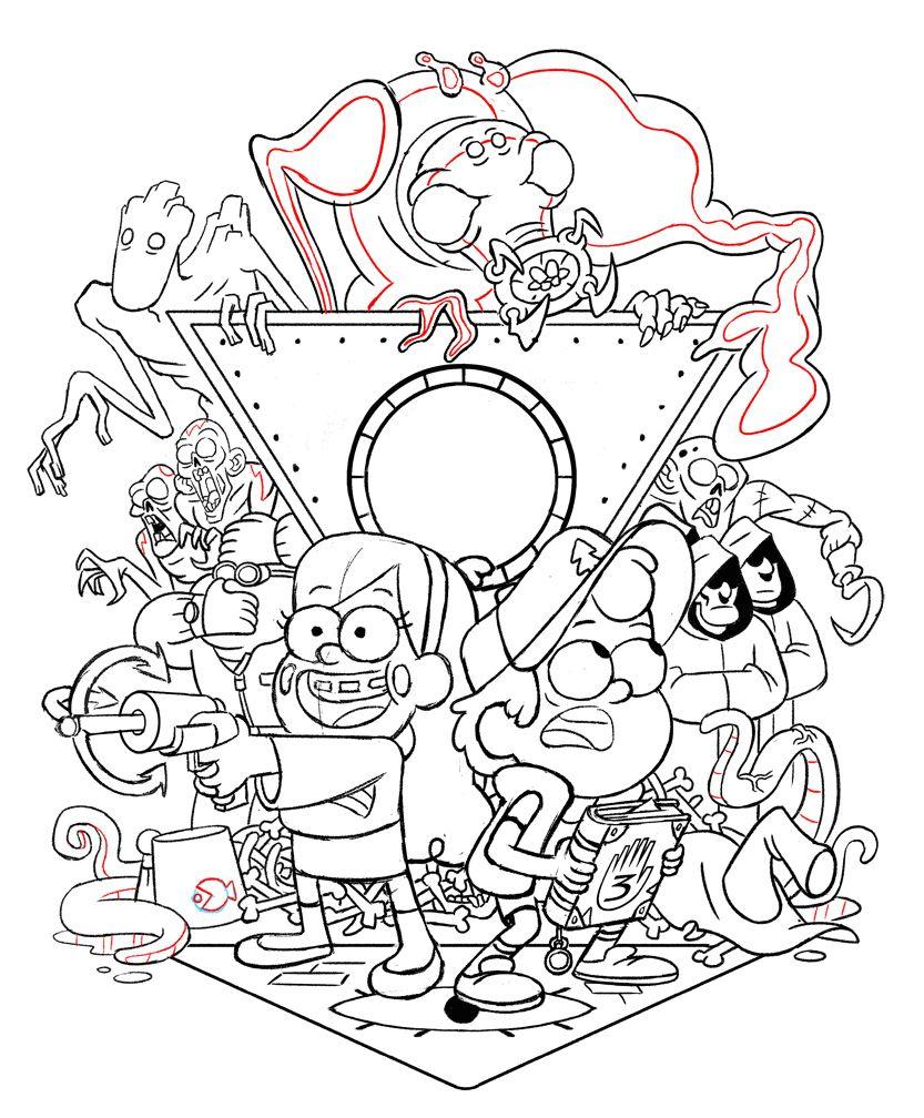 Pin On Gravity Falls Artbook