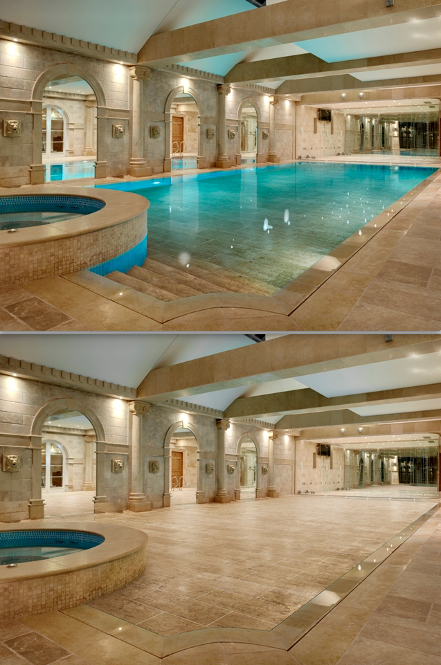 Moving floors transform your swimming pool into a yoga