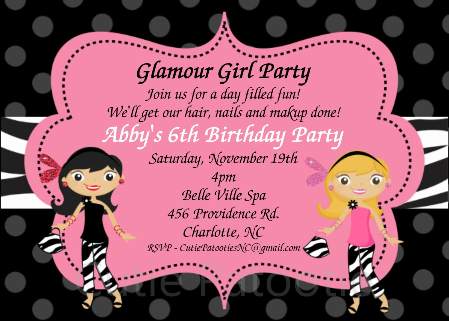 Invitation wording | Glam Girl Party | Pinterest | Invitation ...