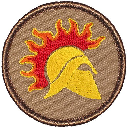 Awesome Boy Scout Patrol Patch! #020 The Spartan Warrior