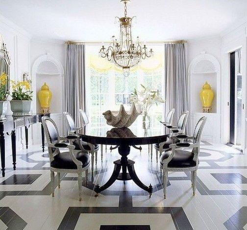 holzboden in schwarz-weiß streichen für luxus wohnzimmer interior ... - Wohnzimmer Weis Streichen