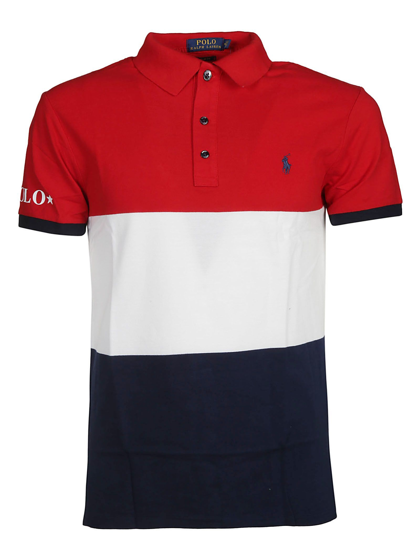 Ralph Lauren Color Block Polo Shirt In Red Multicolor Modesens Polo Shirt Style Polo Polo Shirt