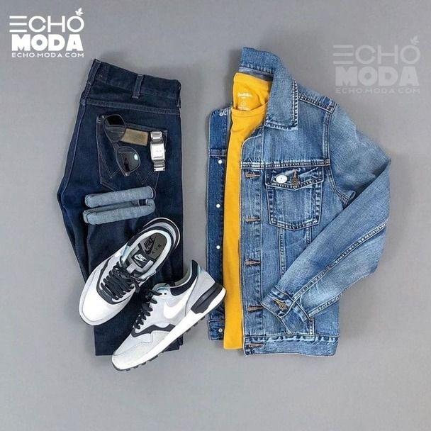 25 طقم ملابس رجاليه كاجوال منسق شتاء 2021 Cool Outfits For Men Jackets Men Fashion Sneakers Outfit Men