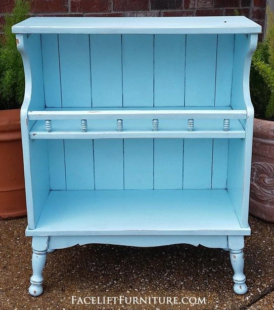 Superbe Distressed Robinu0027s Egg Blue Maple Shelf