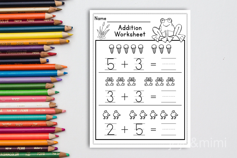 Math Bundle Printable Pre K Kindergarten Worksheets Addition Etsy In 2021 Math Bundle Homeschool Learning Kindergarten Worksheets [ 2000 x 3000 Pixel ]