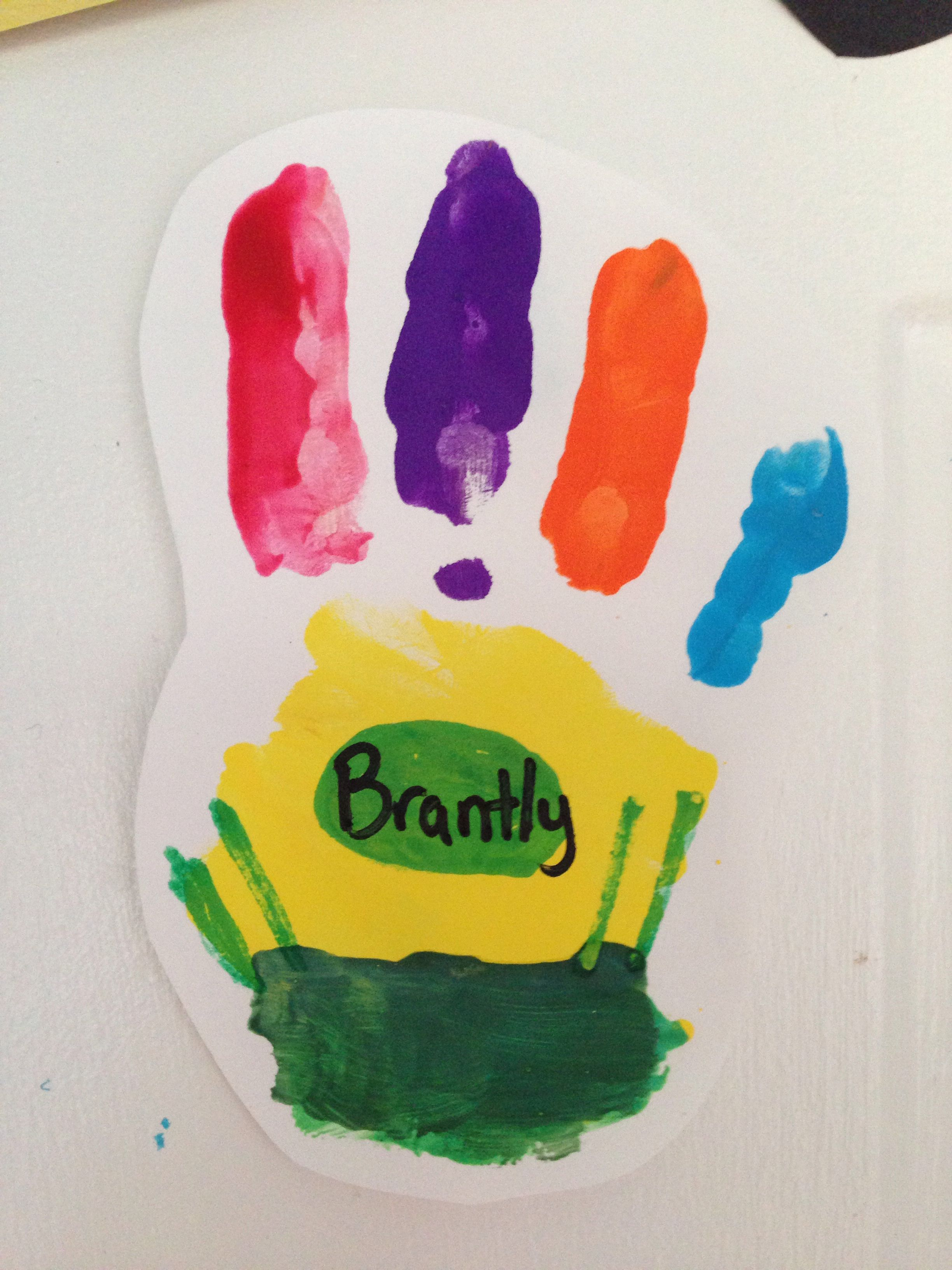 Back To School Handprint A Box Of Crayons Toooo Cute
