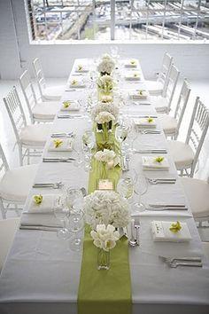Tischdeko Grun Weiss Hochzeit