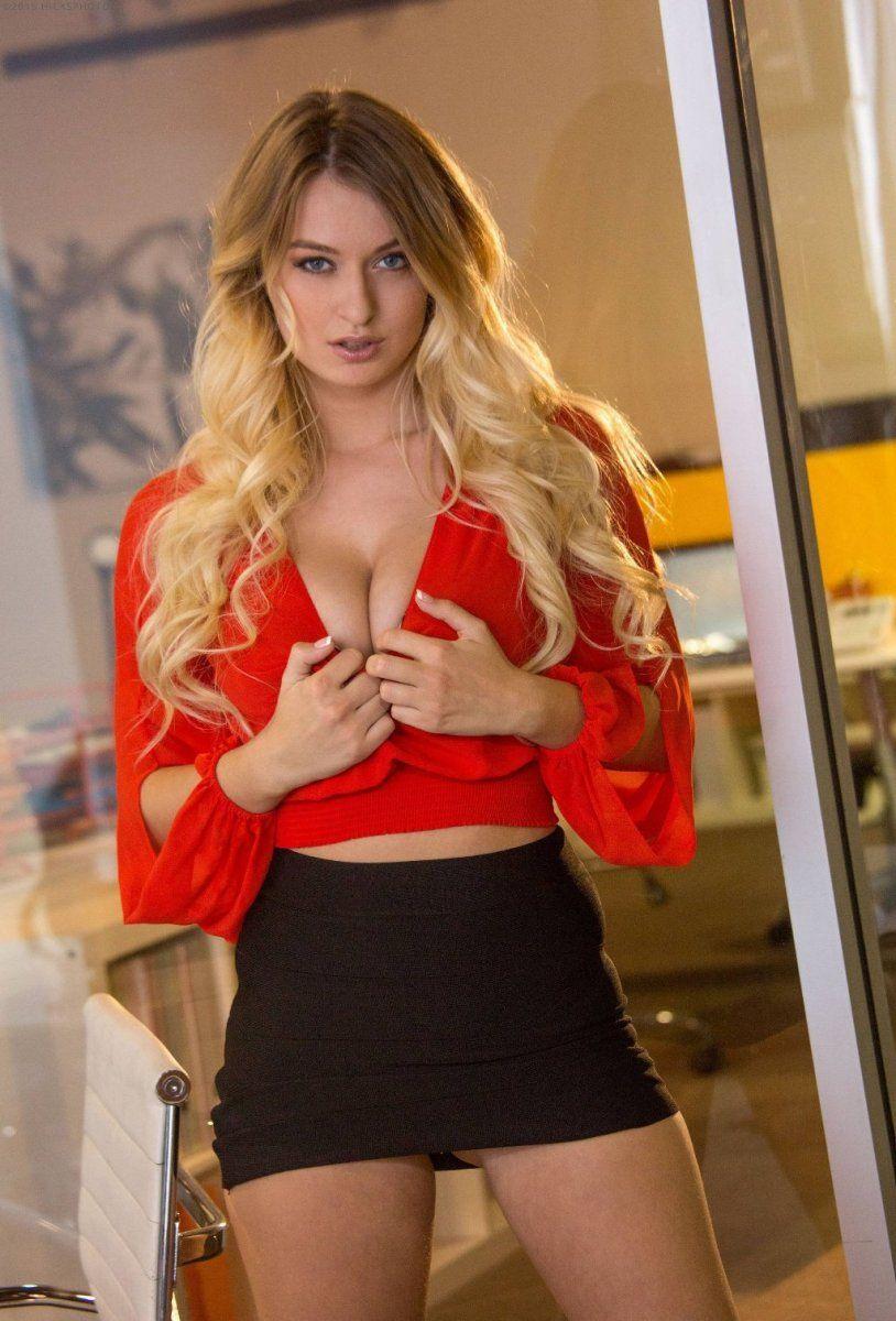 OL美女 [8p]。Natalia Starr 秘书红色诱惑 | D罩杯 D cup | Pinterest | Ol