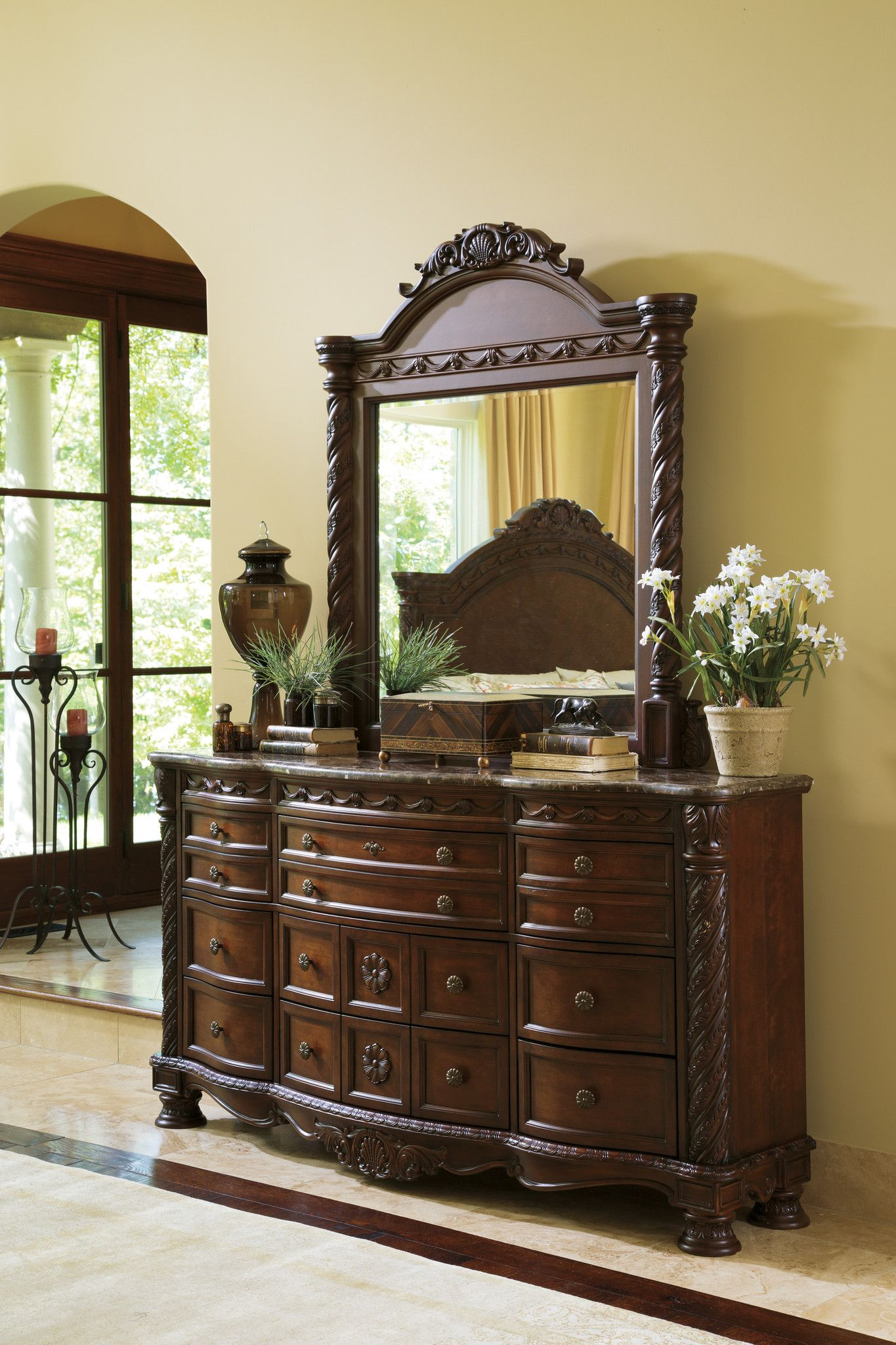 North Shore 2pc Dresser Mirror Set Outfit My Home