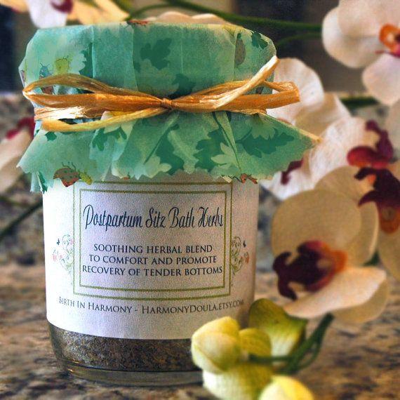 Postpartum Sitz Bath Herbal Blend 5oz by HarmonyDoula on Etsy, $15.00