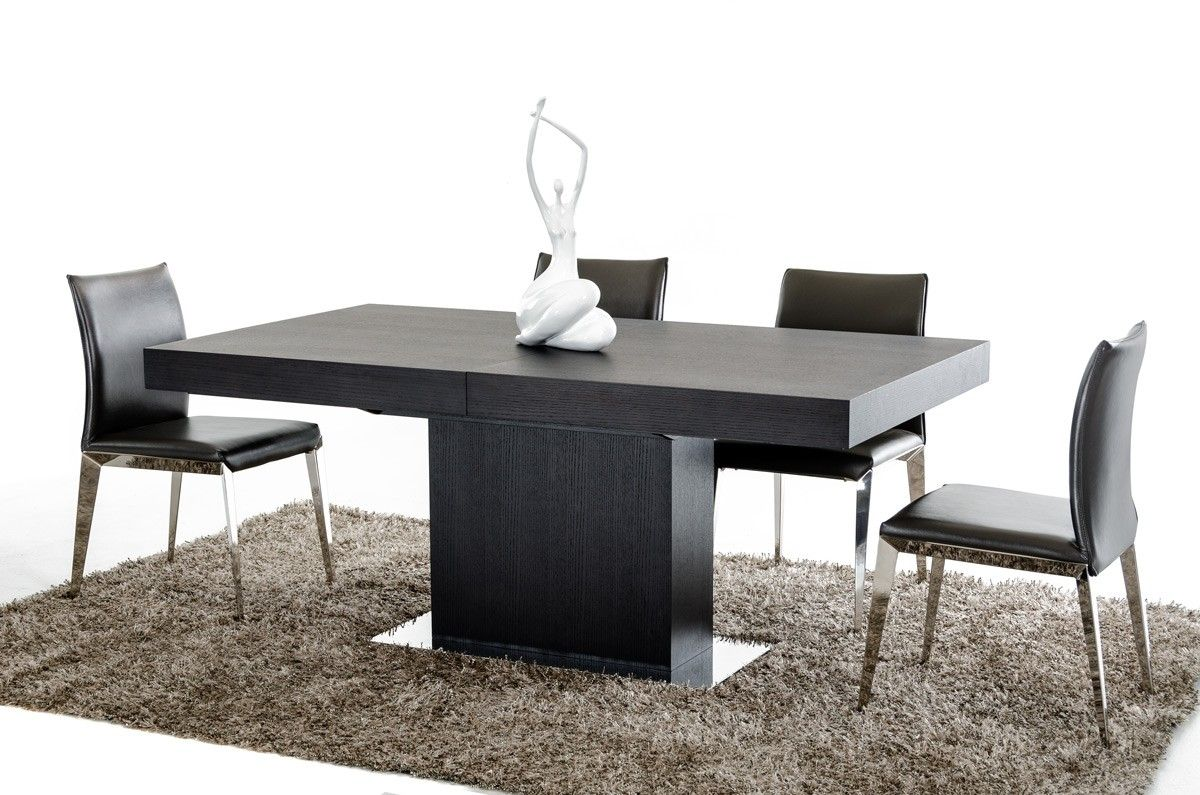 Durham Modern Wenge Extendable Dining Table - Modern Dining - Dining Room