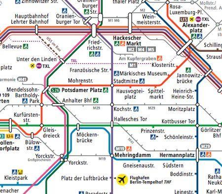 Berlin Transport Map Metro Map Berlin Transportation