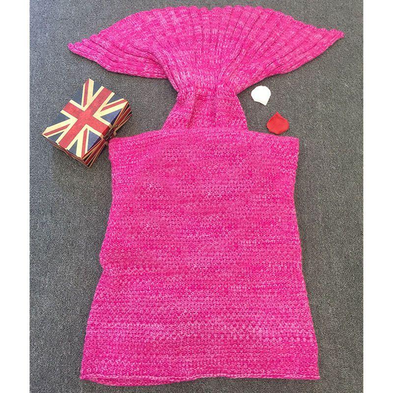 Ladies Womens Knitted Dress Mermaid Tail Lapghan Rug Handmade Crocheted Blanket