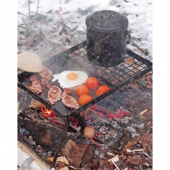 The Ray Mears Folding Griddle #survivalcooking (With ...