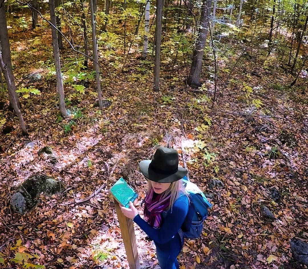 """The most used quote on instagram has to be """"not all who wander are lost"""" well we have gotten lost before and it is not fun! If you are planning on wandering make sure you mind your surroundings and bring a trail map. #orienteering is a life saving skill #exploremore #explorecanada #optoutside #womenwhohike #hike365 #gopro #trail #provincialpark get away with us on Instagram"""