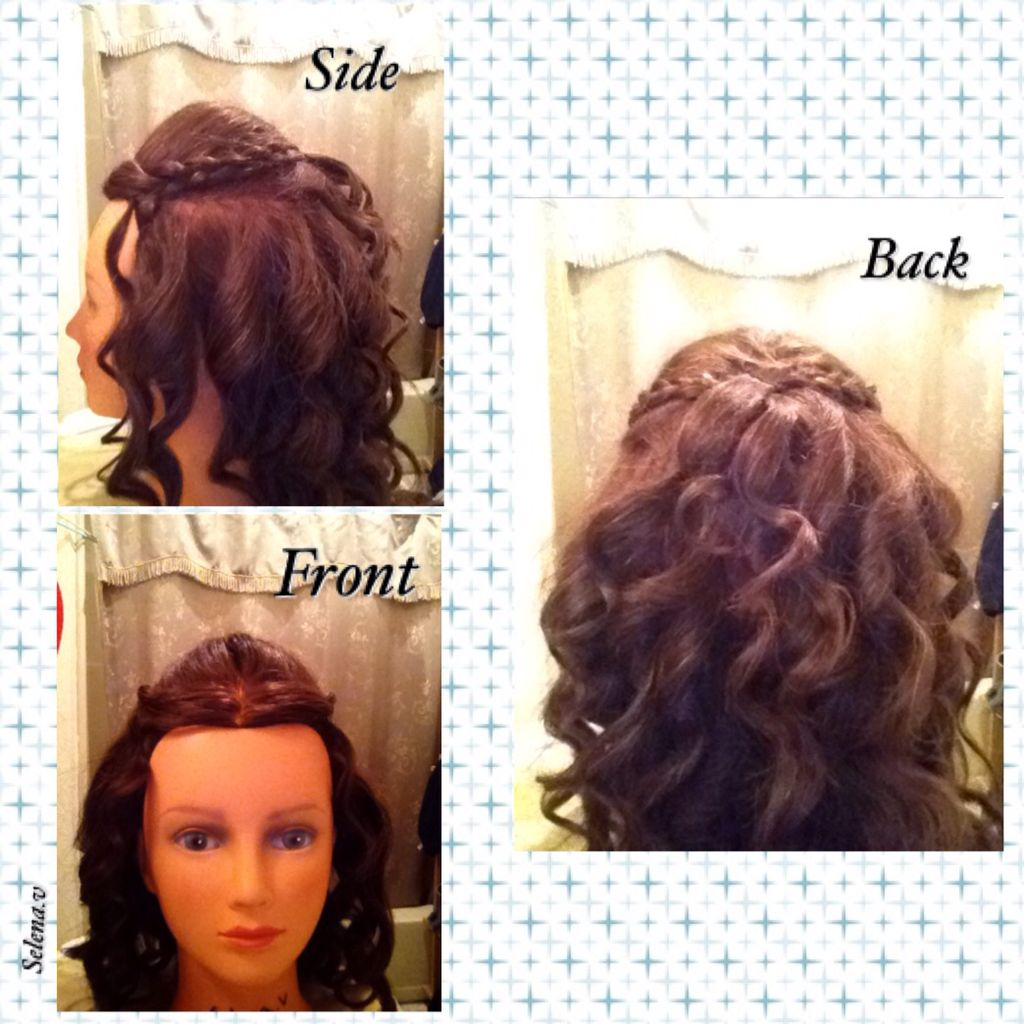 On 10 31 15 I Did A Thermal Style With A Wand Hairstyle Curls Maniquin Braid Hair Styles Hair Braids