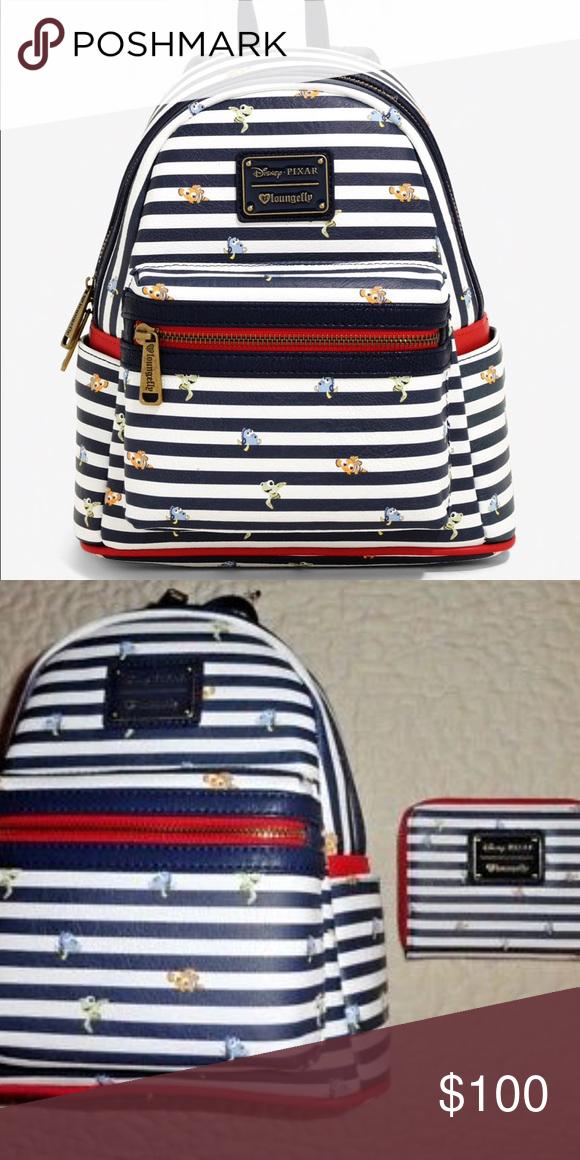 a75cfbb8ea3 Loungefly Mini Backpack Disney Pixar Finding Nemo Loungefly Mini Backpack  and matching wallet Disney Pixar Finding Nemo Brand new