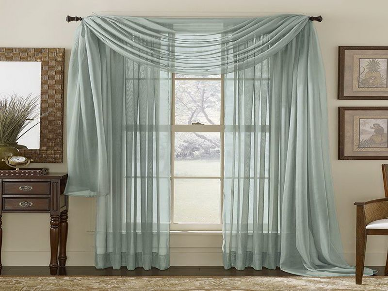 Idea For Bay Window But Maybe In 2 Different Colors Sheer