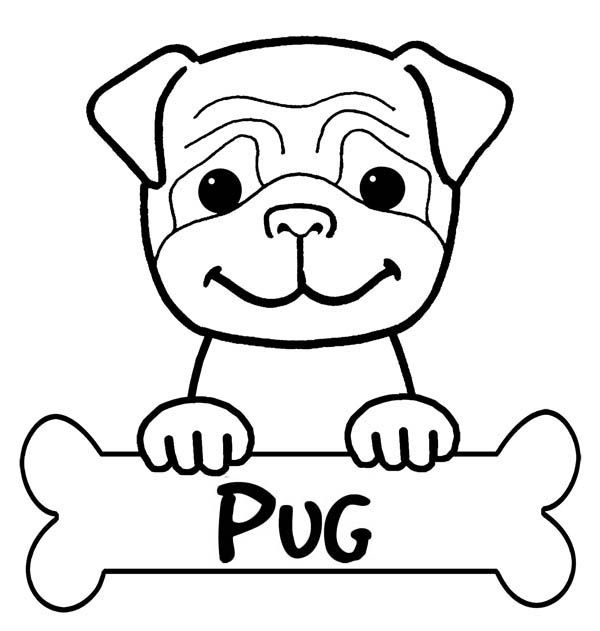 Pitbull Pug Has Bone To Eat Coloring Page Coloring Sky In 2020 Puppy Coloring Pages Dog Coloring Page Dog Coloring Book