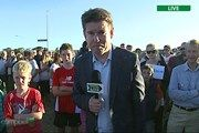 Campbell Live is live from an empty section in Burwood, Christchurch with about 200 guests.
