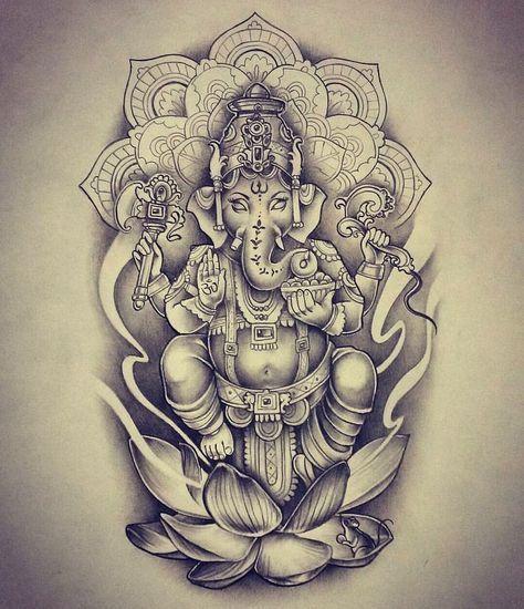 Image Result For Ganesha Mandala Tattoo Armtattoosdesigns With Images Ganesha Tattoo Elephant Tattoos Ganesh Tattoo