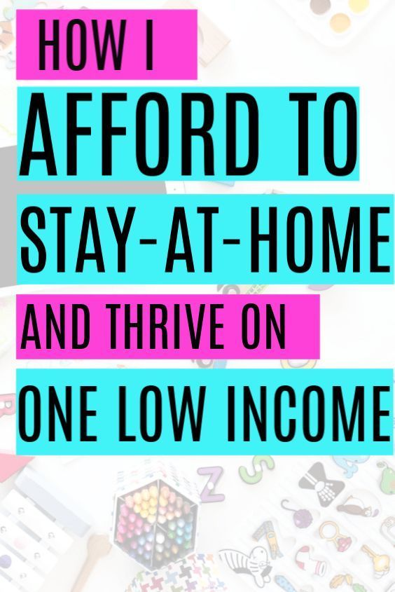 How to Afford to be a Stay at Home Mom on One Income #stayathome