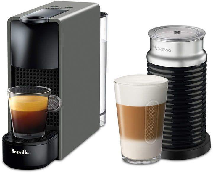 By Breville Essenza Mini Espresso Machine With Aeroccino3 Oficina In 2019 Nespresso Essenza Espresso Coffee Cappuccino Machine