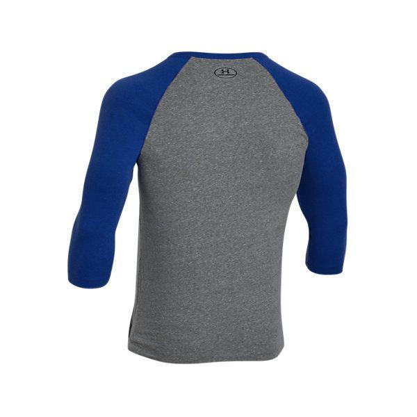 ee05e130 Under Armour Men's Tri-Blend 3/4 Sleeve Length T-Shirt, Blue/Grey ...