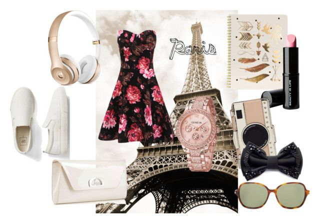 """""""My Trip To Paris"""" by livinglifeincolorannie ❤ liked on Polyvore featuring Sugar Paper, Beauty Is Life, Christian Louboutin, Gap, Kate Spade and Yves Saint Laurent"""