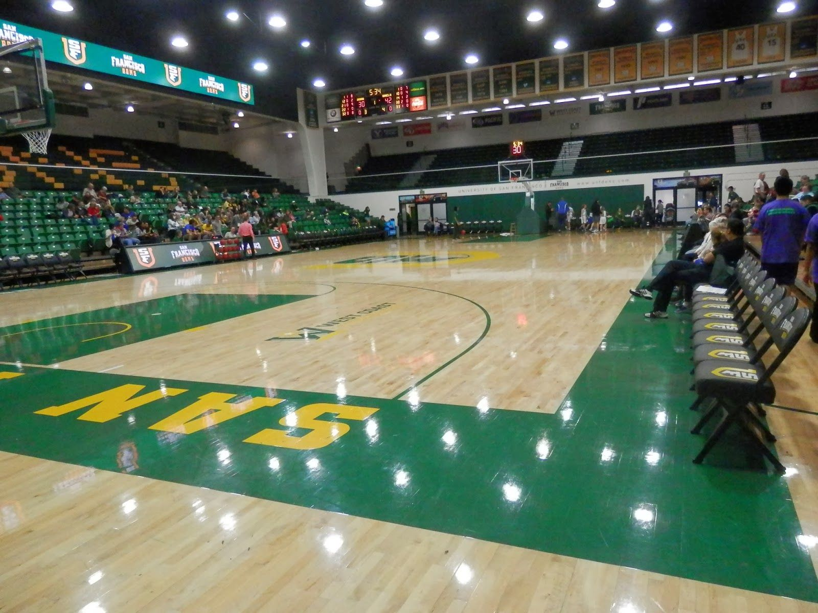 Adventures In Weseland War Memorial Gym Home Of The Usf Dons Basketball Court Flooring Gym War Memorial