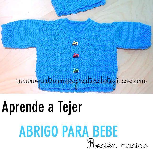 saquito bebe tutorial dos agujas | Bebes - Baby | Pinterest | Saco ...
