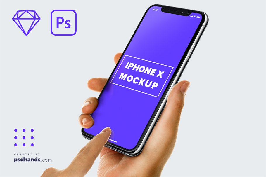 Download Hand Holding Iphone Mockup Free Yellowimages