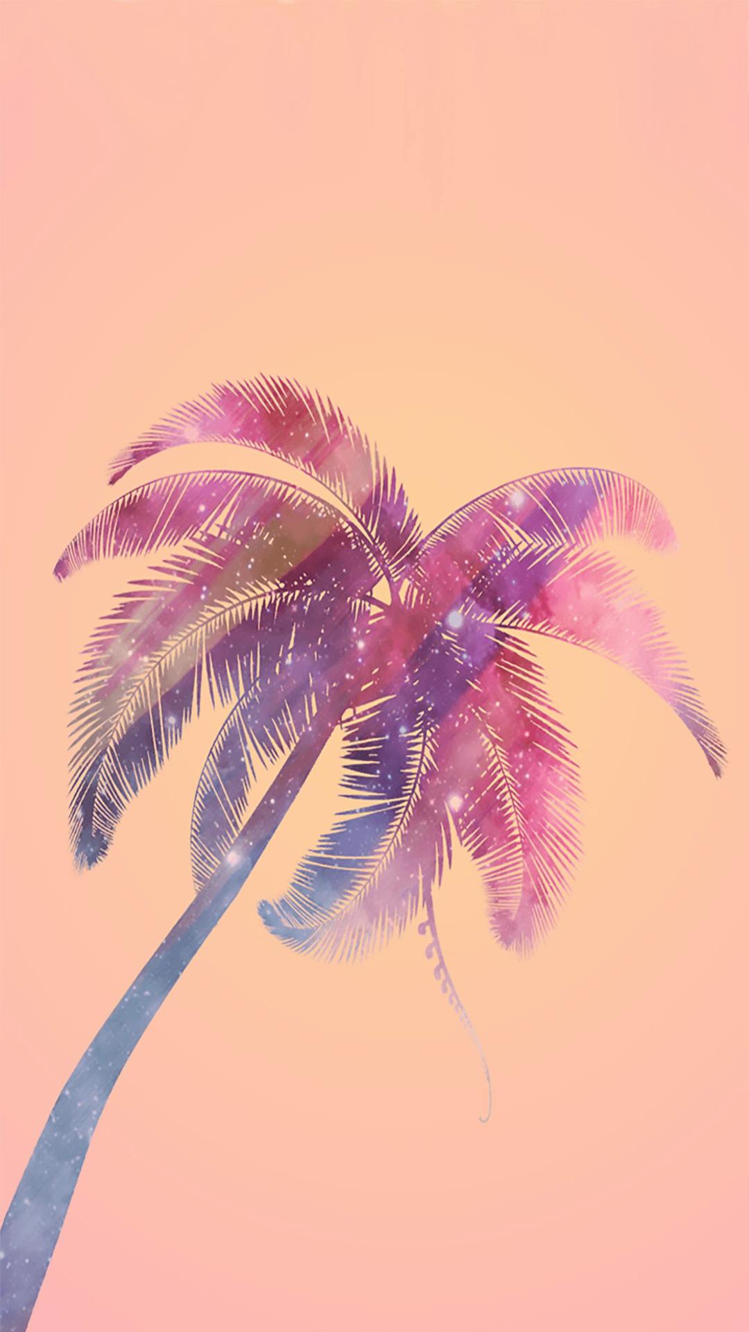 Pink Tree Sky Violet Palm Tree Purple In 2020 Pink Wallpaper Iphone Palm Trees Wallpaper Wallpaper Iphone Christmas