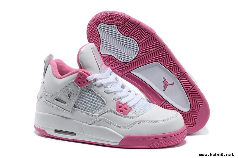 f947b5e6801c Authentic Jordans Basketball Shoes Women s Nike Air Jordan 4 Retro White  Pink
