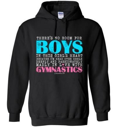 Golly Girls: No Room For Boys Gymnastics Hoodie (Youth & Adult Sizes)