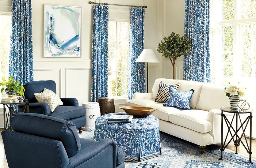 How To Decorate Home Decorating Ideas From Ballard Designs Living Room Without Coffee Table Blue Living Room Sets Blue Living Room
