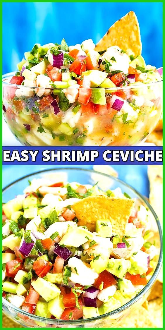 Mexican Shrimp Ceviche with Avocado mexicanshrimprecipes Mexican Shrimp Ceviche with Avocado does n