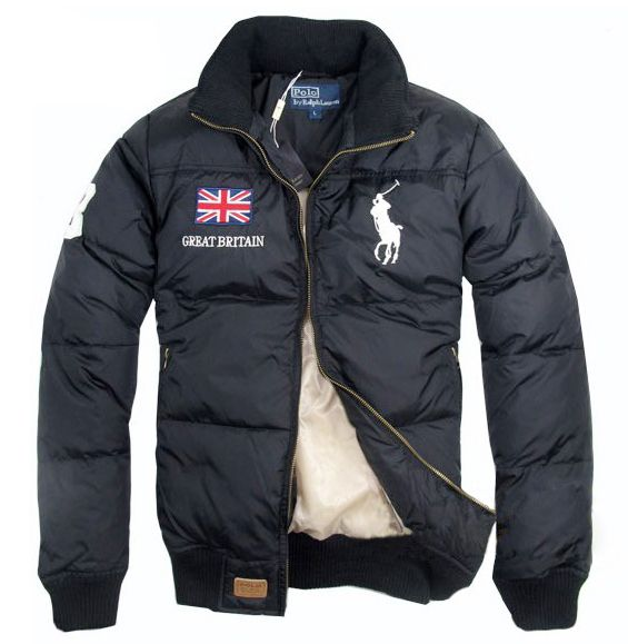 Superbo Ralph Lauren Uomo Quilted Classic-Fit Piumino Giacche Great Britain  Flag…