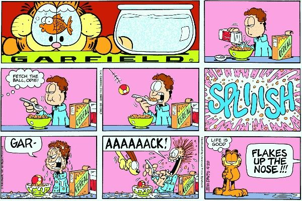 Read today's Garfield comic strip, or search for your favorite! Garfield Cartoon, Garfield Comics, Garfield And Odie, Cat Cartoons, Hagar The Horrible, Pokemon, Smiles And Laughs, Have A Laugh, Funny Jokes